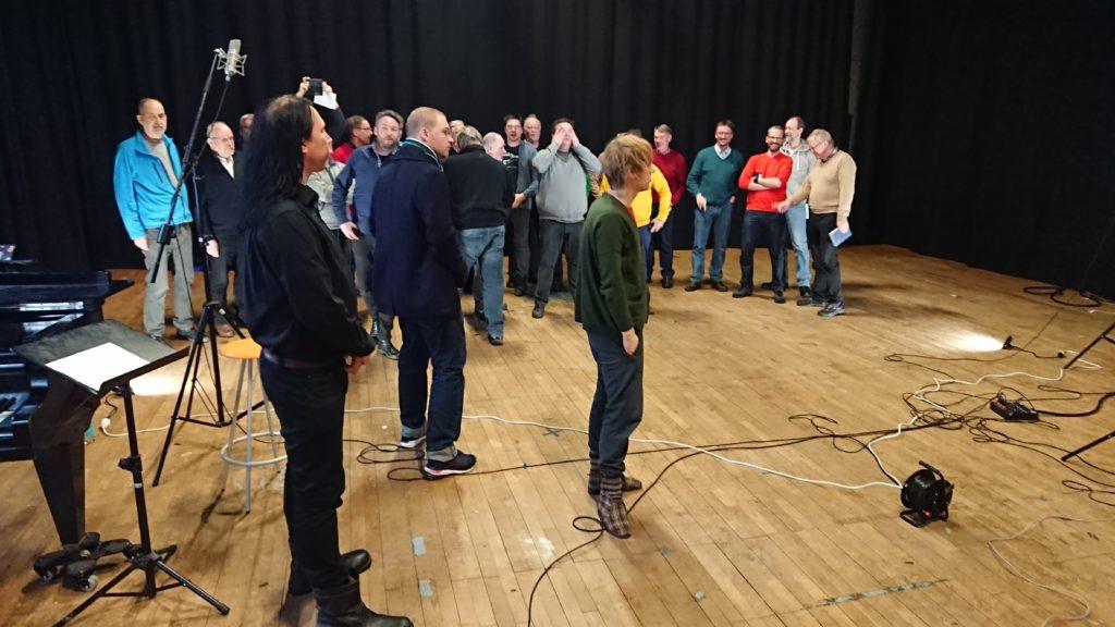 Bild från inspelningssessionen med Bob Malmström.